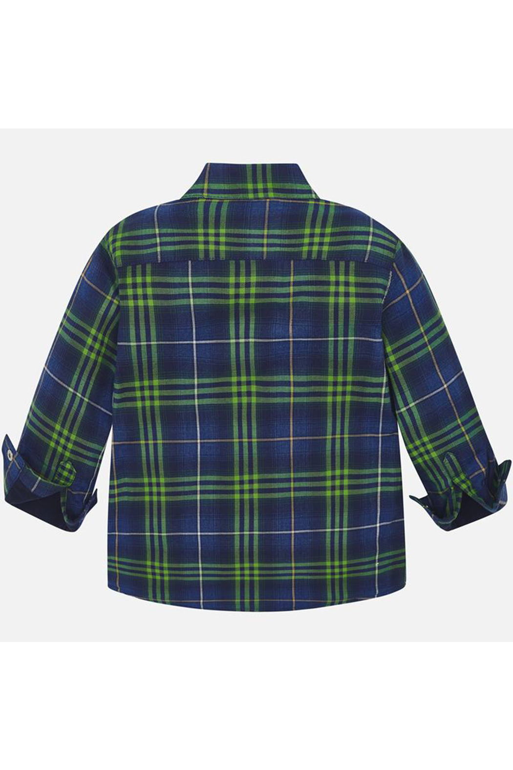 Mayoral Long Sleeve Button Up Plaid - Front Full Image