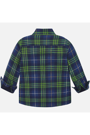 Mayoral Long Sleeve Button Up Plaid - Front full body