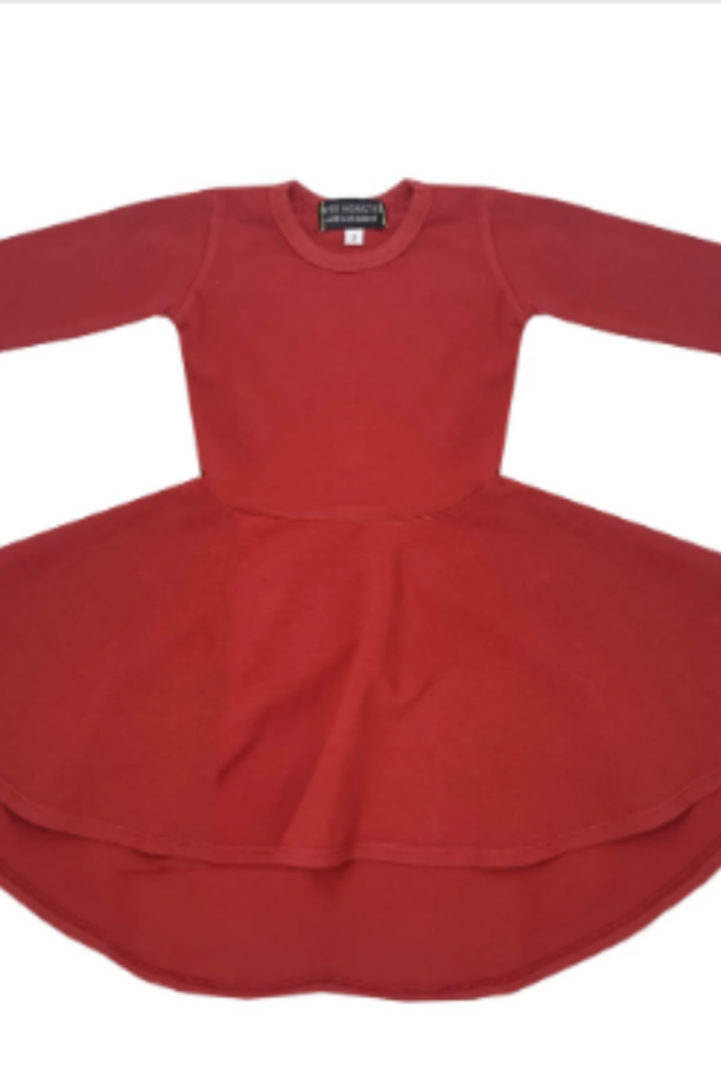 Wee Monster Long Sleeve Circle Dress - Front Full Image
