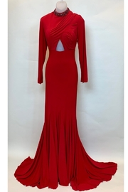 Mac Duggal LONG SLEEVE COLLAR GOWN - Product Mini Image