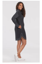 Tribal  Long Sleeve Cowl Neck Dress With Pockets - Front full body