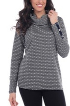 Clotheshead Long Sleeve Cowl Neck Top - Product List Image