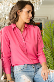 The Shirt LONG SLEEVE CREPE BUTTON DOWN - Product Mini Image
