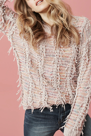 Tribal Long sleeve crew neck sweater - Front cropped