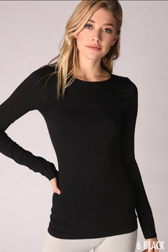 Nikibiki Long Sleeve Crew Neck Top - Alternate List Image