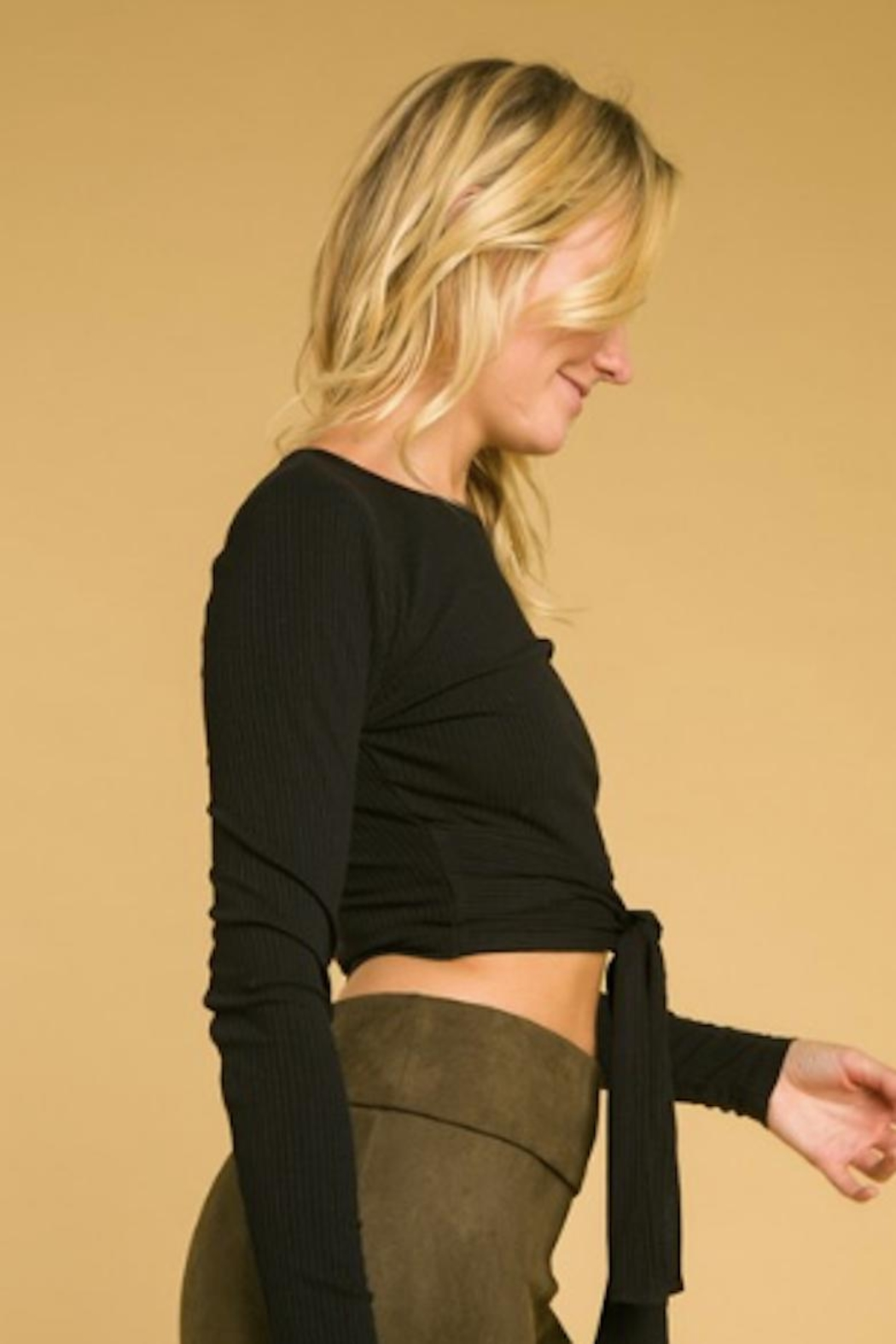 Wild Honey Long Sleeve Crop - Front Full Image