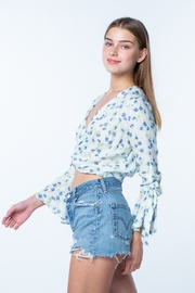 Skylar & Madison Long Sleeve Cropped Top - Front full body