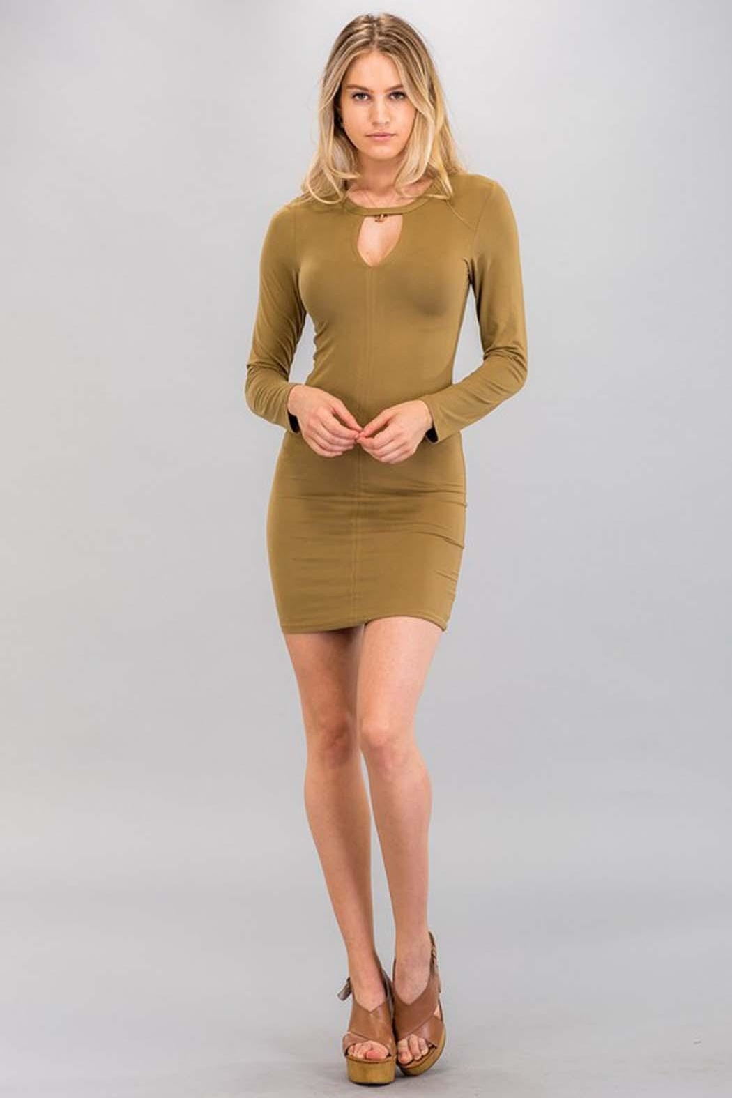 Capella Apparel Long-Sleeve Cutout Dress - Front Cropped Image