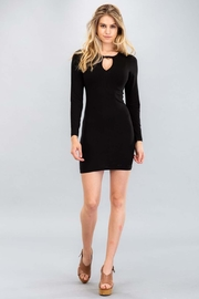 Capella Apparel Long-Sleeve Cutout Dress - Front cropped