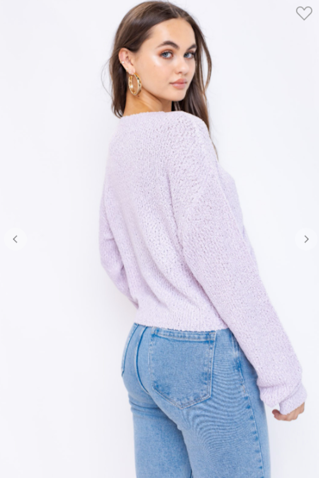 Le Lis long Sleeve Drawstring Sweater - Front Full Image