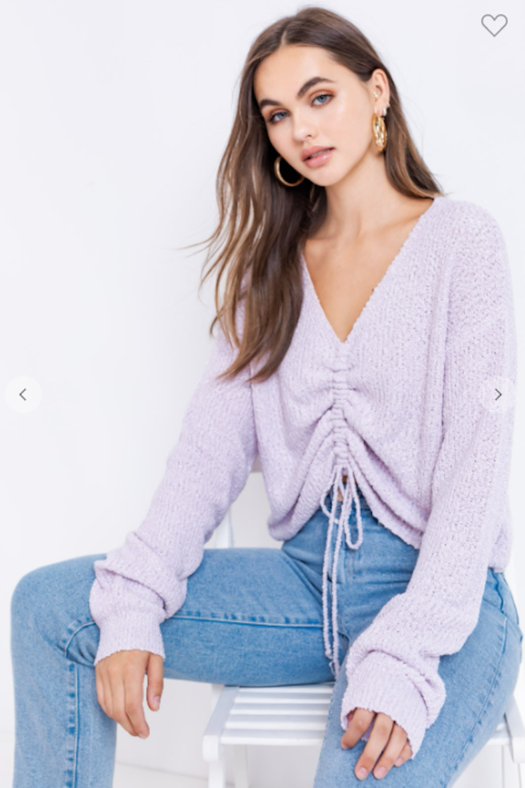 Le Lis long Sleeve Drawstring Sweater - Main Image