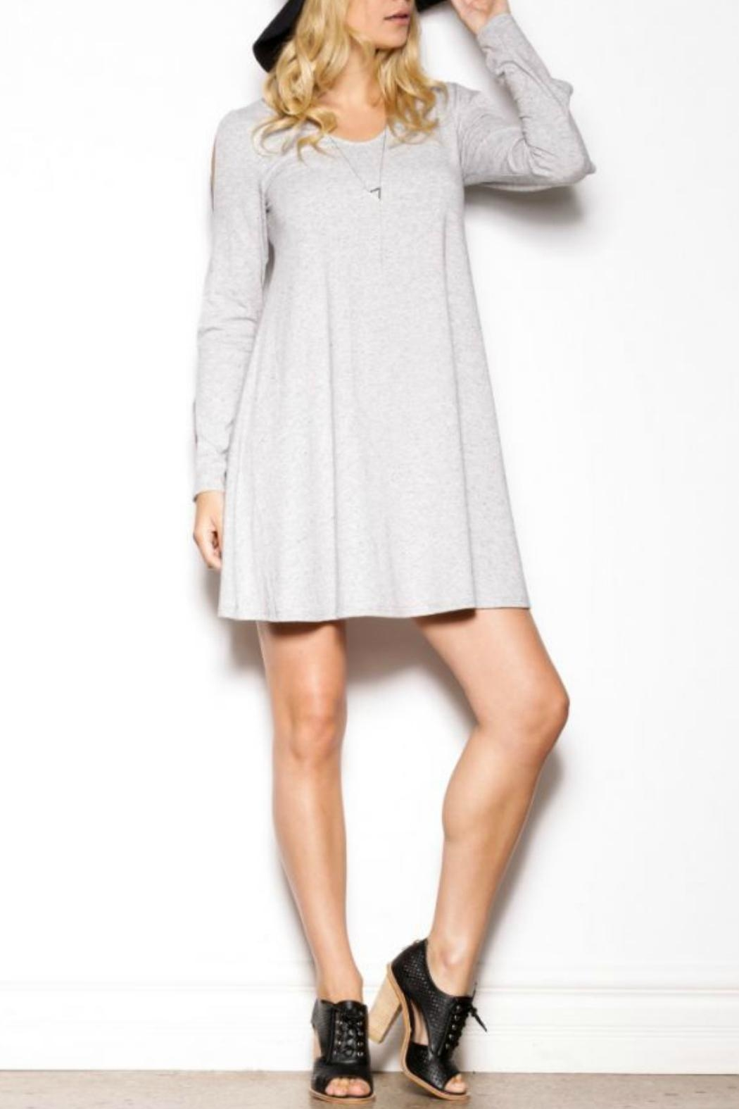 Pink Martini Long Sleeve Dress - Front Full Image