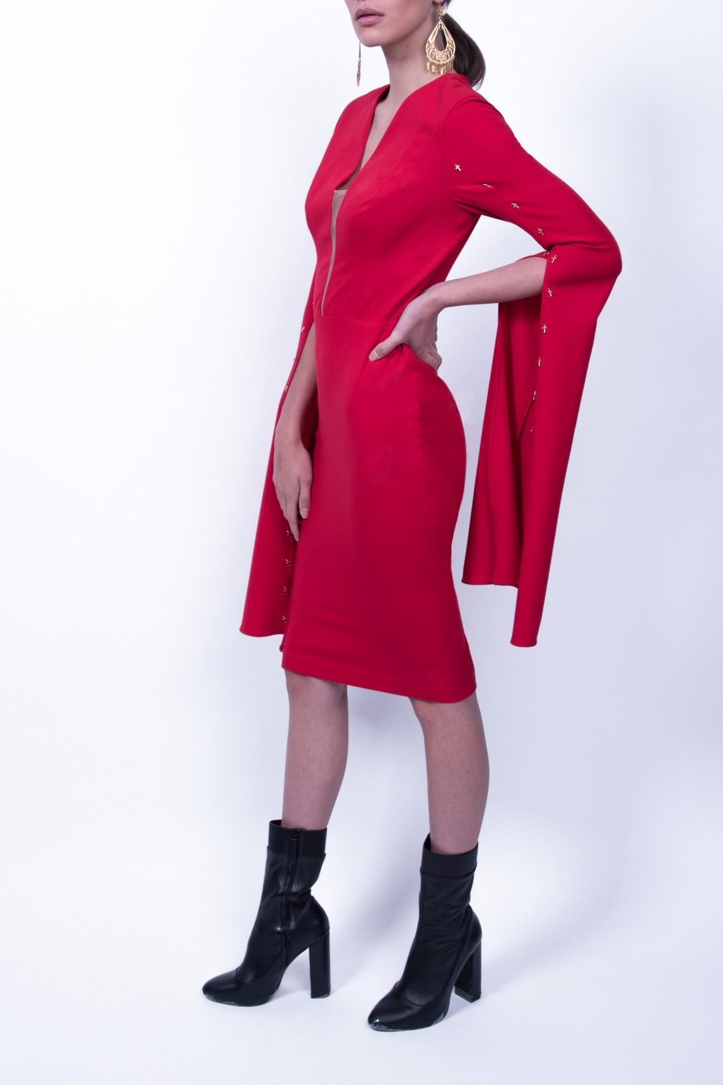 Viesca y Viesca Long Sleeve Dress - Front Full Image