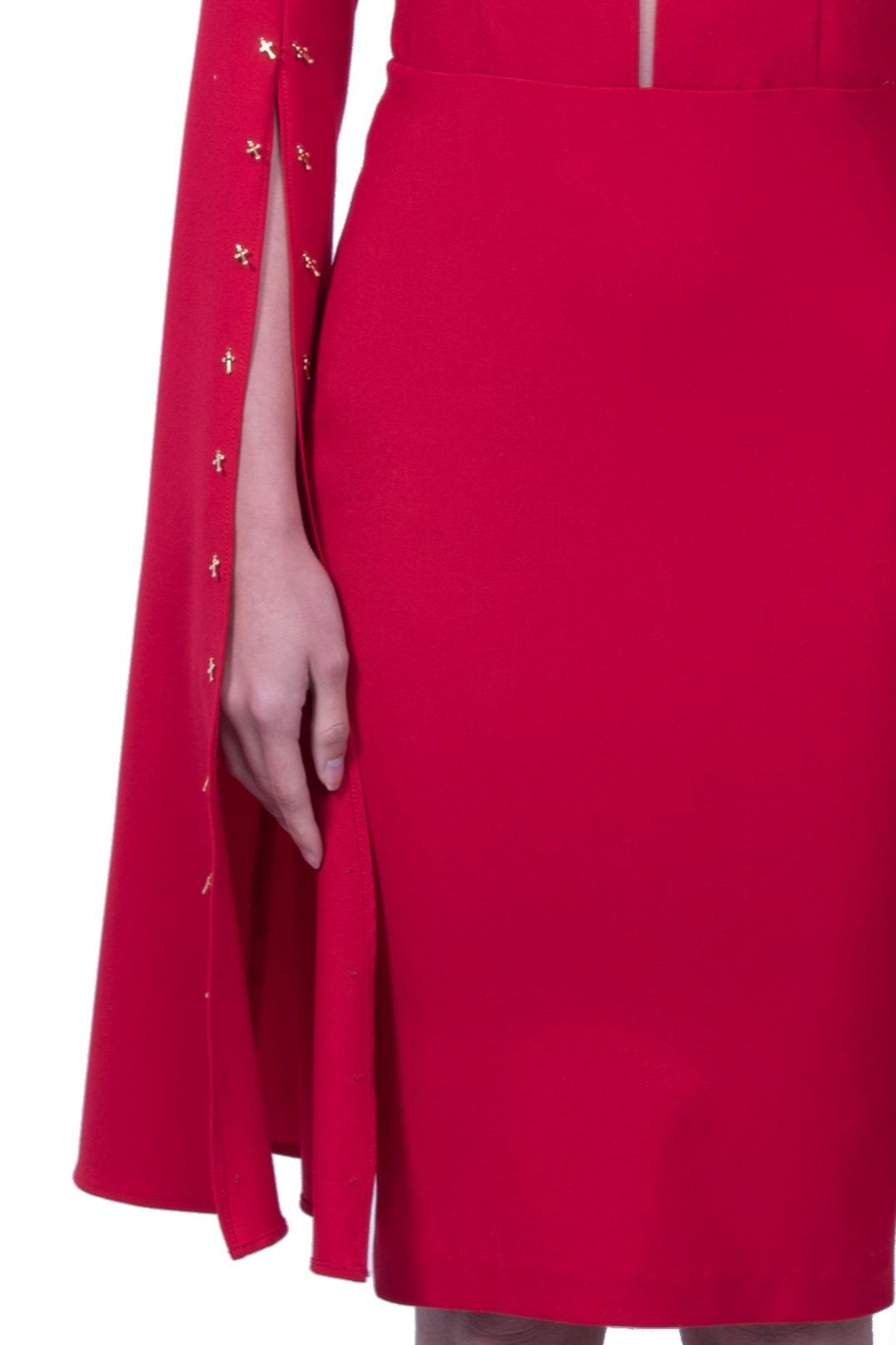Viesca y Viesca Long Sleeve Dress - Side Cropped Image