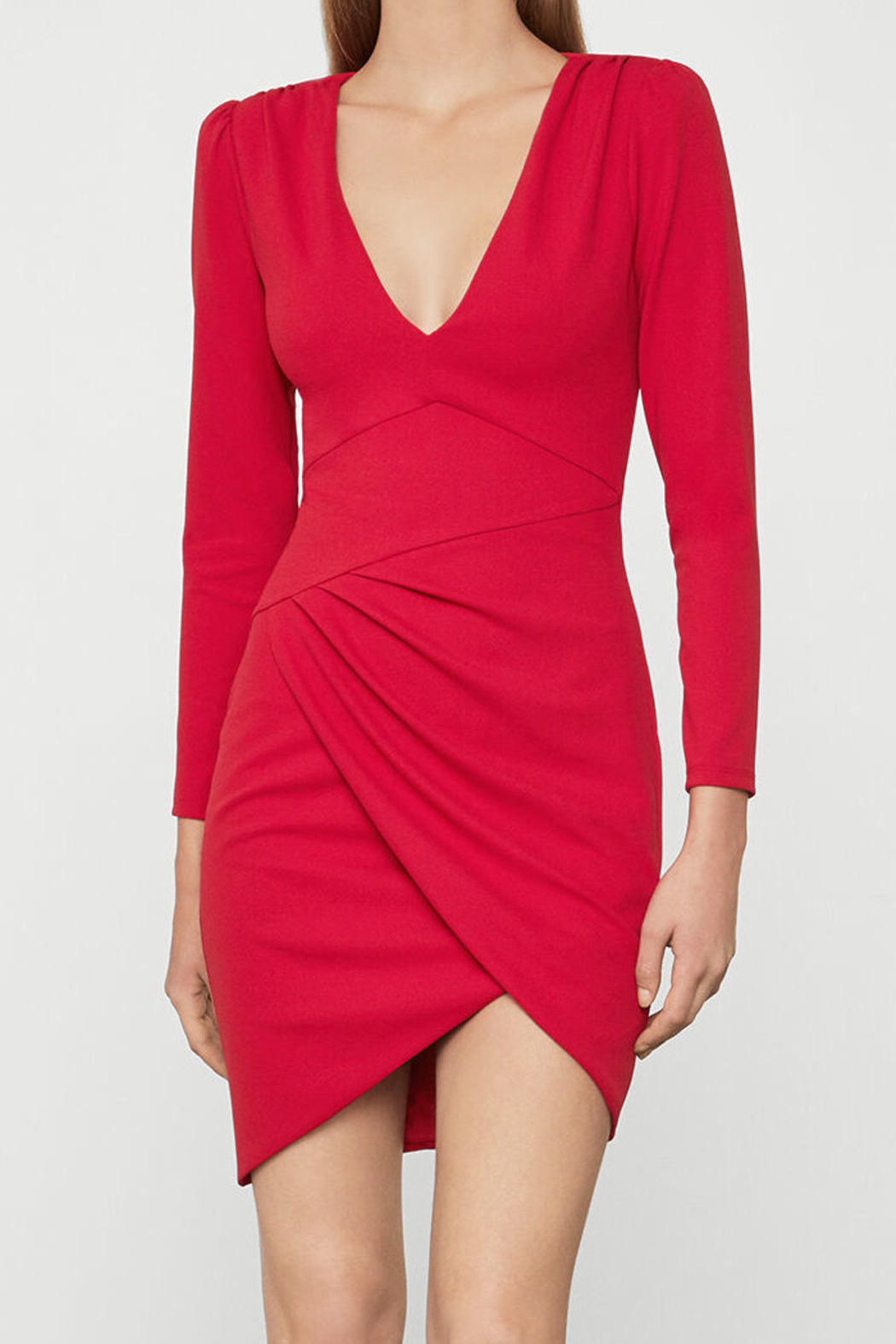 BCBG MAXAZRIA Long Sleeve Dress - Front Cropped Image