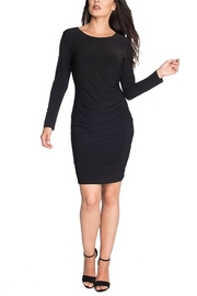 Last Tango Long Sleeve Dress With Side Gather - Product Mini Image