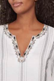 Tribal  Long Sleeve Embroidered Blouse - Product Mini Image
