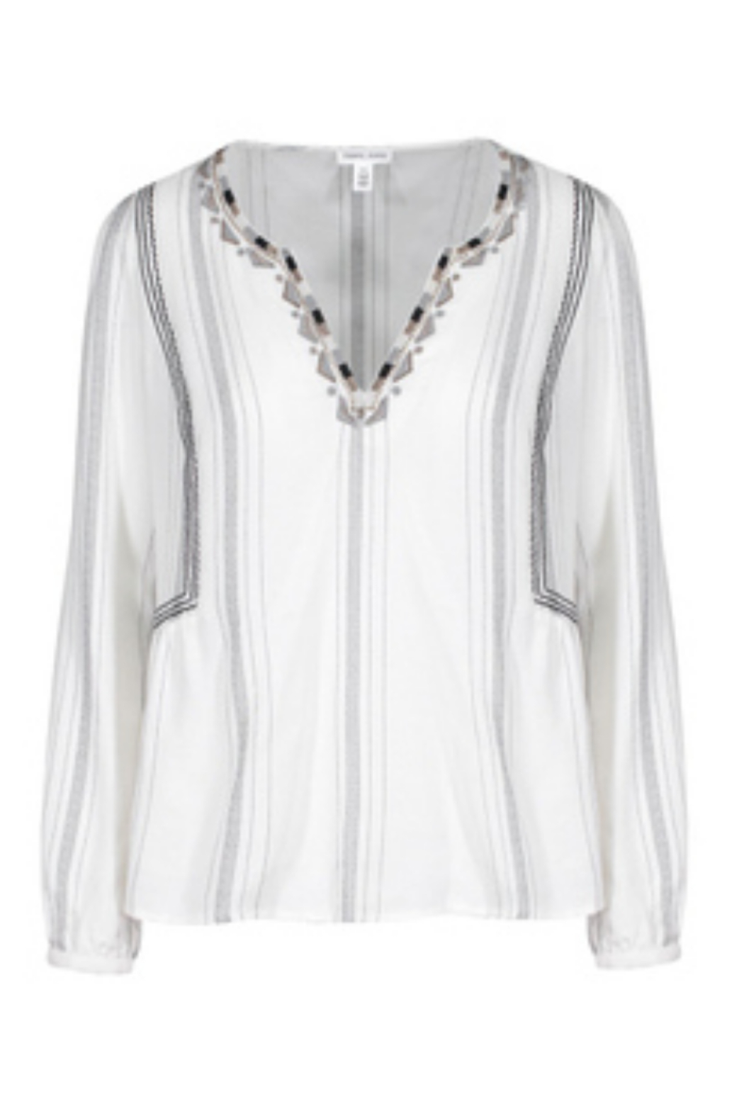 Tribal  Long Sleeve Embroidered Blouse - Main Image