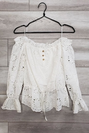Mad For Love Long-Sleeve Eyelet Top - Product Mini Image
