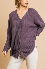 Umgee Long Sleeve Fleece Cardigan - Product Mini Image