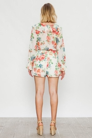 Flying Tomato Long-Sleeve Floral Romper - Side cropped