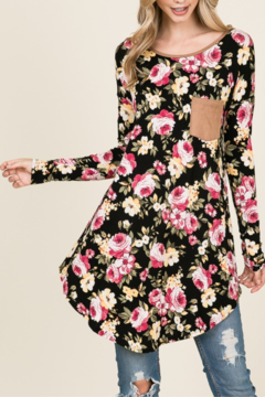 Reborn J Long Sleeve Floral Tunic - Alternate List Image