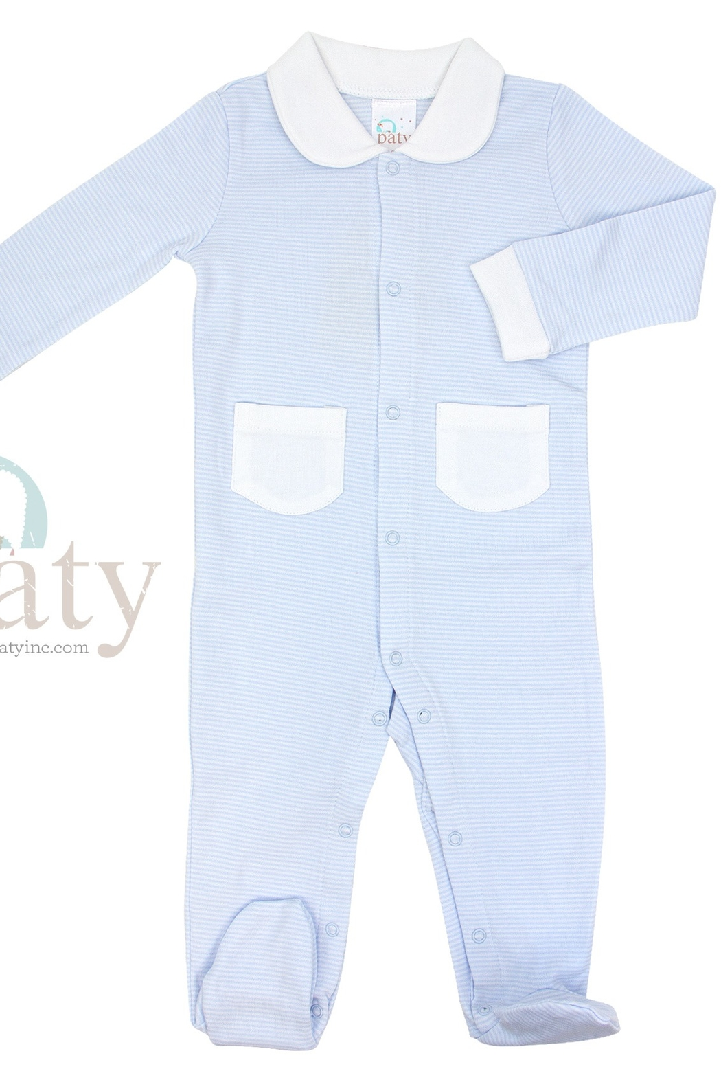 Paty Inc Long Sleeve Footie with Pockets - Main Image