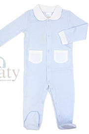 Paty Inc Long Sleeve Footie with Pockets - Front cropped