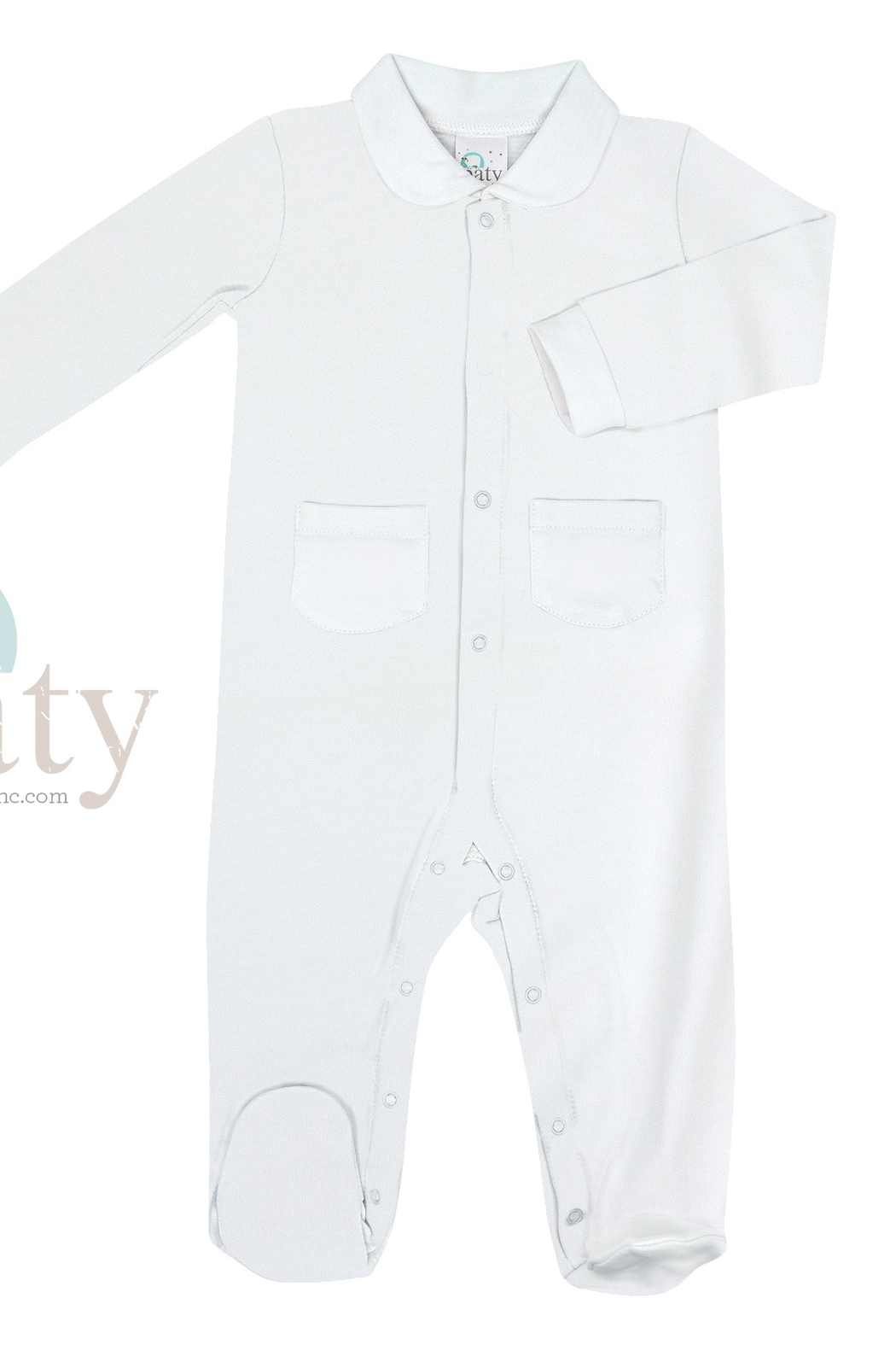Paty Inc Long Sleeve Footie with Pockets - Front Cropped Image