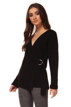 Dex Long Sleeve Front Wrap Sweater - Alternate List Image