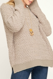 She + Sky Long Sleeve Fuzzy Sweater Top - Product Mini Image