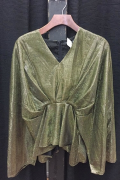 reverse  Long-Sleeve Gold Top - Product List Image
