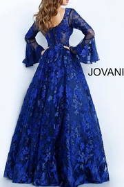 Jovani Long Sleeve Gown - Front full body