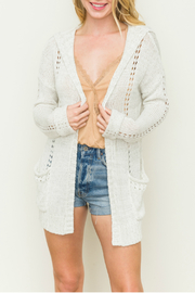 Hem & Thread Long sleeve hoodie cardigan - Product Mini Image