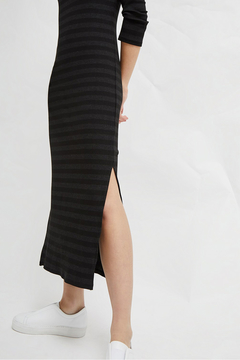 French Connection LONG SLEEVE JERSEY MIDI DRESS - Alternate List Image