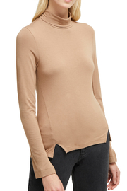 French Connection LONG SLEEVE JERSEY ROLL NECK TOP - Product Mini Image