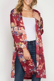 She + Sky Long Sleeve Kimono - Product Mini Image