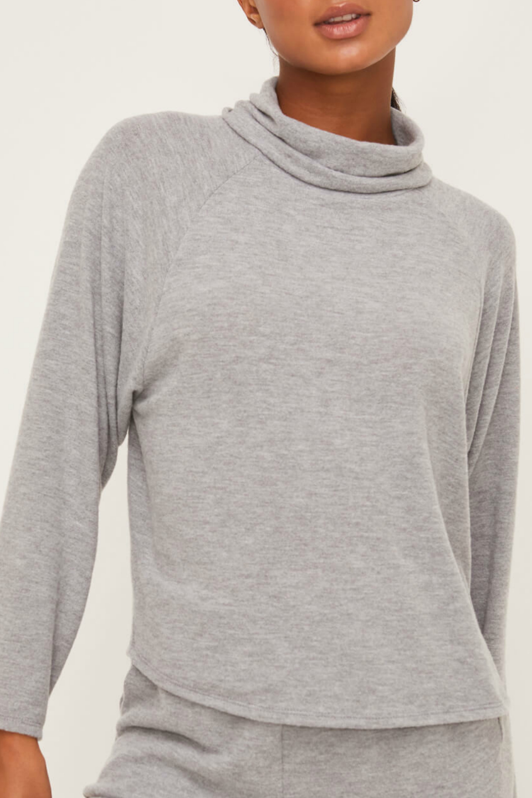 Lush  Long Sleeve Knit Top - Front Cropped Image