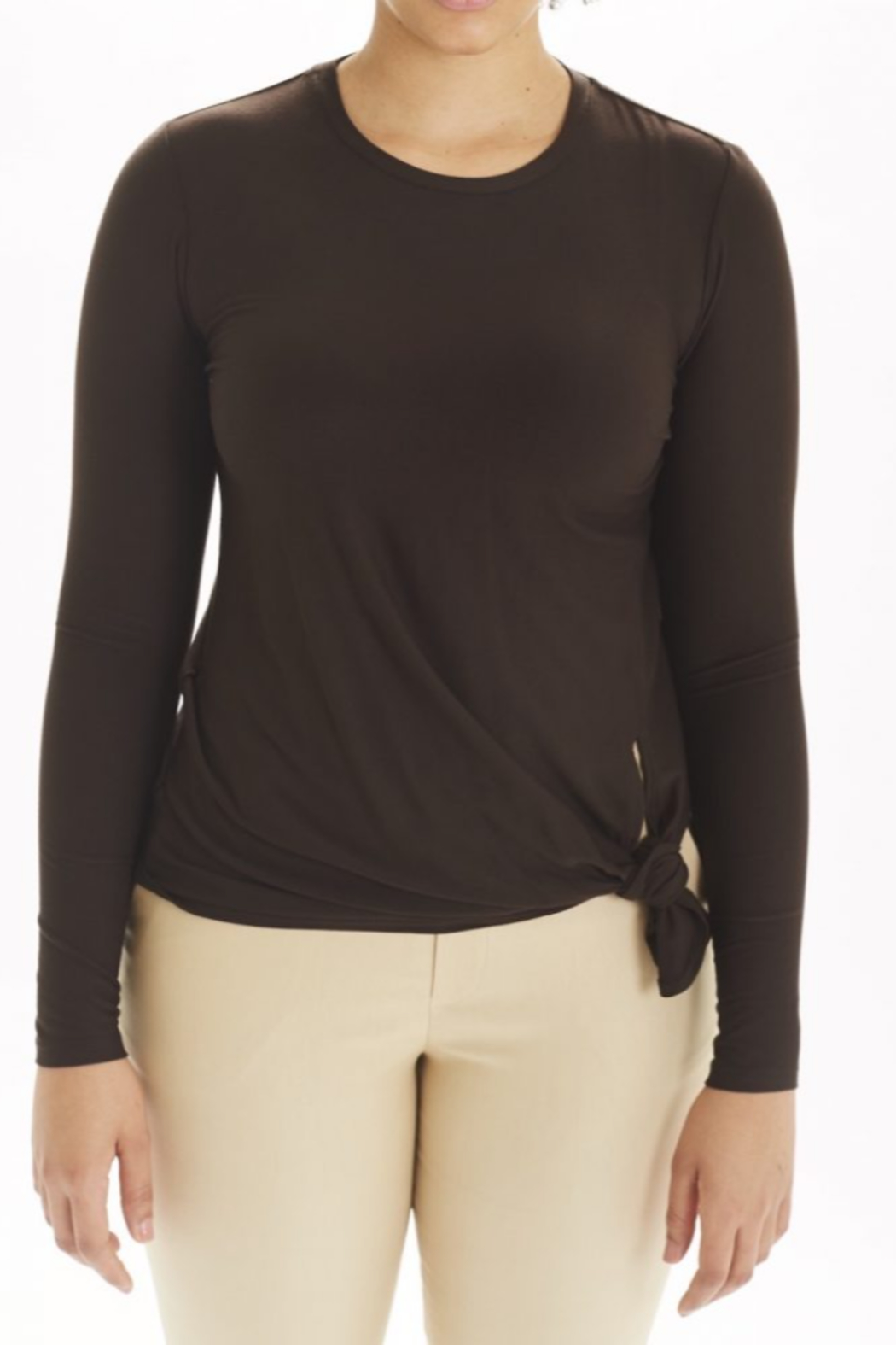 I Love Tyler Madison Long Sleeve Knot Top - Main Image
