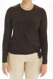 I Love Tyler Madison Long Sleeve Knot Top - Front cropped