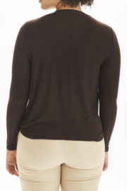 I Love Tyler Madison Long Sleeve Knot Top - Front full body