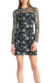 Aidan Mattox Long-Sleeve Lace Dress - Product Mini Image