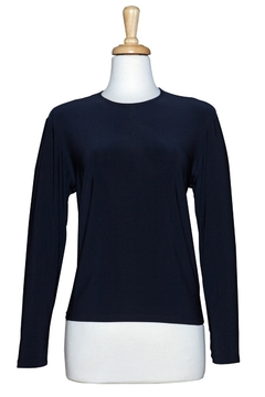 Ricci Fashions Long Sleeve Layer Shell Top Navy 1X-4X - Alternate List Image