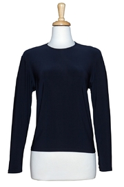Ricci Fashions Long Sleeve Layer Shell Top Navy 1X-4X - Product Mini Image