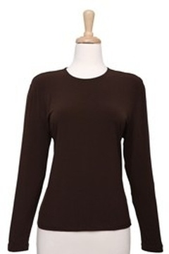 Ricci Fashions Long Sleeve Layer Shell Top Brown 1X-4X - Alternate List Image