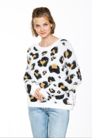 En Creme Long-Sleeve Leopard Sweater - Product Mini Image