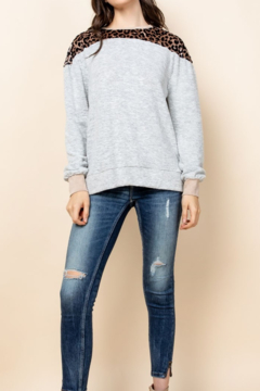 Thml Long Sleeve Leopard Top - Product List Image