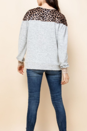 Thml Long Sleeve Leopard Top - Front full body