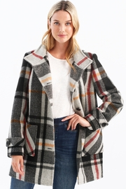 Charlie B. Long Sleeve Lined Plaid Outerwear - Product Mini Image