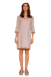 Haris Cotton  Long Sleeve Linen Dress - Product Mini Image